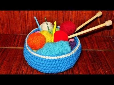 Heklana korpica (How to Crochet a Basket)