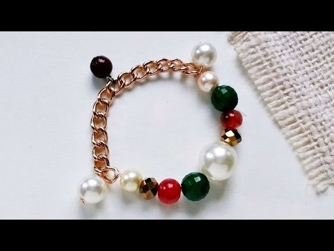 How To Create A Beaded Chain Charm Bracelet - DIY Crafts Tutorial - Guidecentral