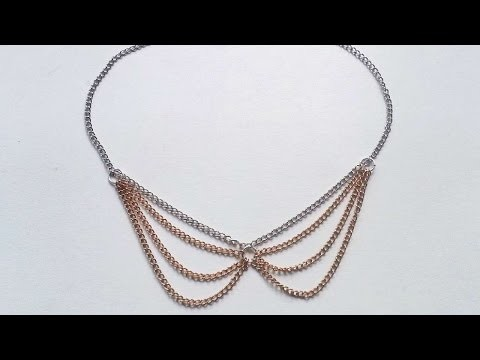 How To Create A Chain Collar Necklace - DIY Crafts Tutorial - Guidecentral