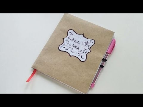How To Create A Customized Notebook - DIY Crafts Tutorial - Guidecentral