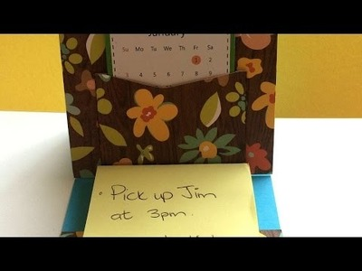 How To Create A DIY Desk Calendar - DIY Crafts Tutorial - Guidecentral