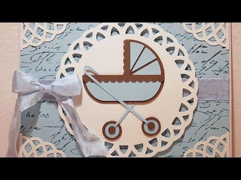 How To Create A Traditional Look Baby Card - DIY Crafts Tutorial - Guidecentral