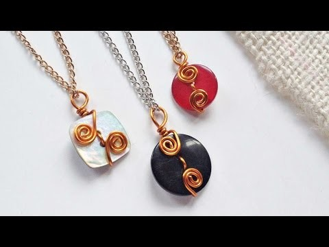 How To Create Wire Wrapped Button Pendants - DIY Crafts Tutorial - Guidecentral