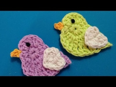 How To Crochet A Couple Of Cute Love Chicks Applique - DIY Crafts Tutorial - Guidecentral