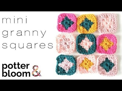 How to Crochet a Mini Granny Square - UK