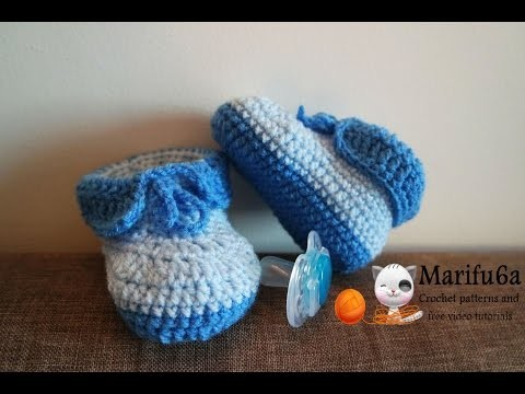 How to crochet easy baby booties full free pattern