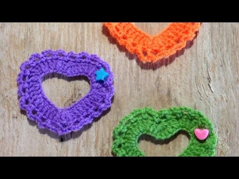 How To Crochet Pretty And Lovely Bright Hearts - DIY Crafts Tutorial - Guidecentral