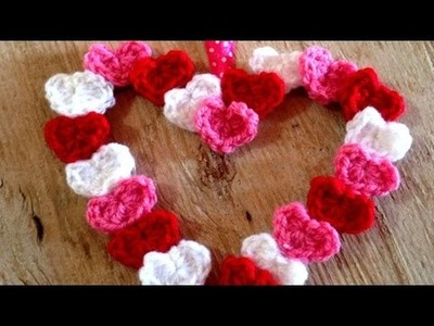 How To Crochet  PrettyTiny Hearts Valentines Wreath - DIY Crafts Tutorial - Guidecentral