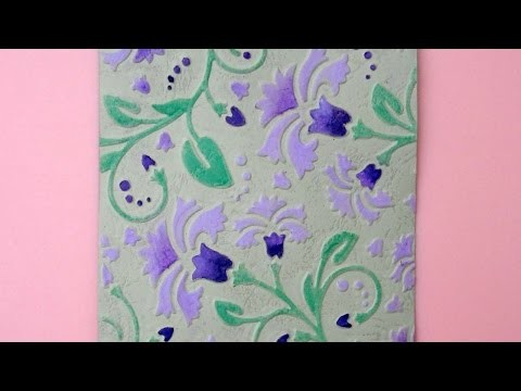 How To Floral Background Using A Marker And PanPastels - DIY Crafts Tutorial - Guidecentral