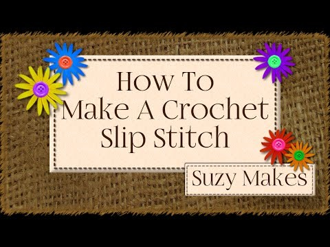 How to Join Crochet Chains into A Ring using A Crochet Slip Stitch