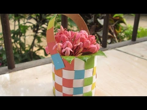 How To Make A Colorful Woven Paper Basket - DIY Crafts Tutorial - Guidecentral