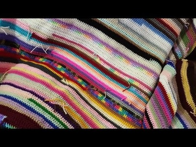 How to Make a Crochet Scrap Yarn Blanket