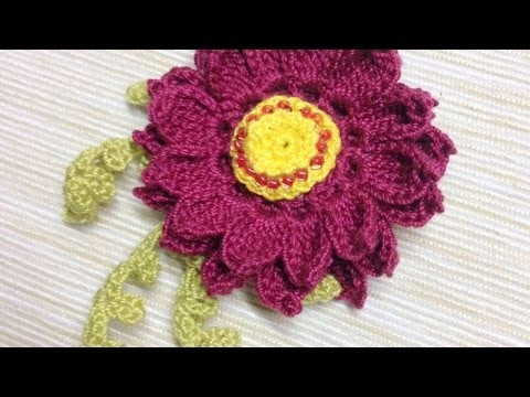 How To Make A Crocheted Bright Flower Brooch - DIY Crafts Tutorial - Guidecentral