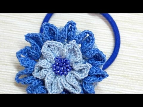 How To Make A Crocheted Flower Hydrangea Hair Band - DIY Crafts Tutorial - Guidecentral