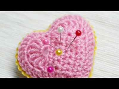 How To Make A Crocheted Pink Heart Needle Cushion - DIY Crafts Tutorial - Guidecentral