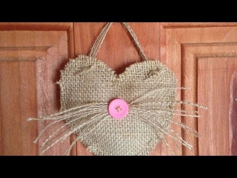 How To Make A Cute Burlap Heart Hanger - DIY Crafts Tutorial - Guidecentral