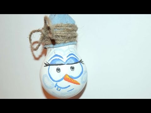 How To Make A Cute Light Bulb Snowman - DIY Crafts Tutorial - Guidecentral