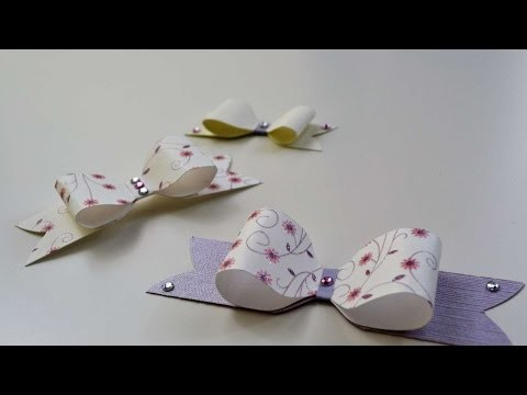 How To Make A Cute Paper Craft Bow - DIY Crafts Tutorial - Guidecentral