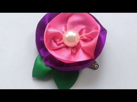 How To Make A Cute Ribbon Flower Clip - DIY Crafts Tutorial - Guidecentral