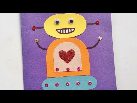 How To Make A Cute Robot Valentine's Card - DIY Crafts Tutorial - Guidecentral