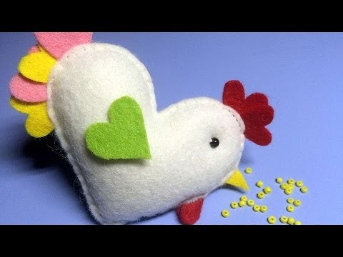 How To Make A Felt Valentines Chicken - DIY Crafts Tutorial - Guidecentral
