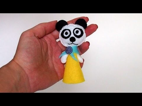 How To Make A Finger Puppet Panda - DIY Crafts Tutorial - Guidecentral