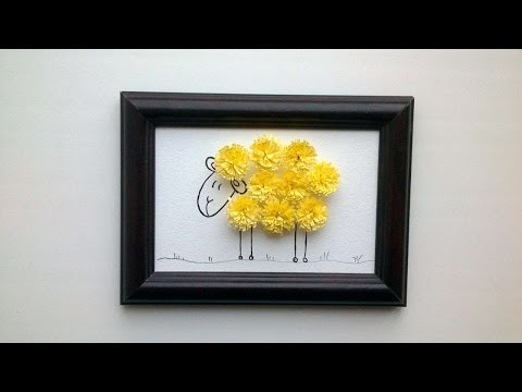 How To Make A Funny Sheep Quilled Picture - DIY Crafts Tutorial - Guidecentral