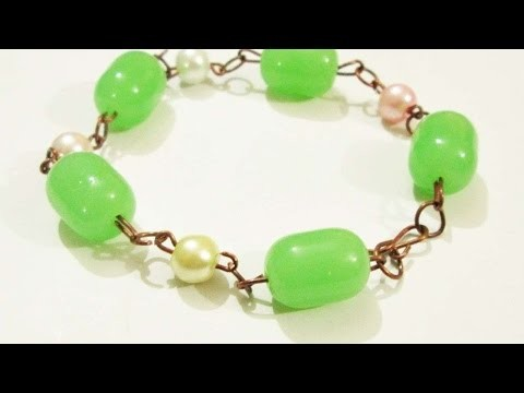 How To Make A Pretty Wire Beaded Bracelet - DIY Crafts Tutorial - Guidecentral