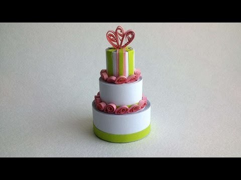 How To Make A Quilled Cake Decoration - DIY Crafts Tutorial - Guidecentral