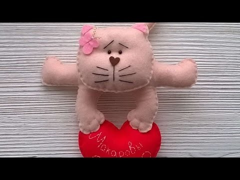 How To Make A Valentine Cat With Heart - DIY Crafts Tutorial - Guidecentral