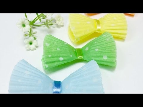 How To Make An Easy Yet Lovely Bow With Cupcake Liners - DIY Crafts Tutorial - Guidecentral