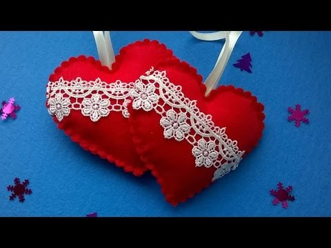 How To Make Christmas Heart Decorations - DIY Crafts Tutorial - Guidecentral