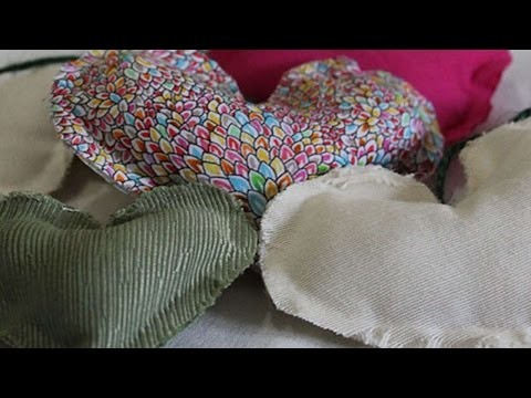 How To Make Creative Recycled Cloth Hearts - DIY Crafts Tutorial - Guidecentral