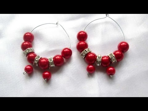 How To Make Elegant Wire And Bead Earrings - DIY Crafts Tutorial - Guidecentral