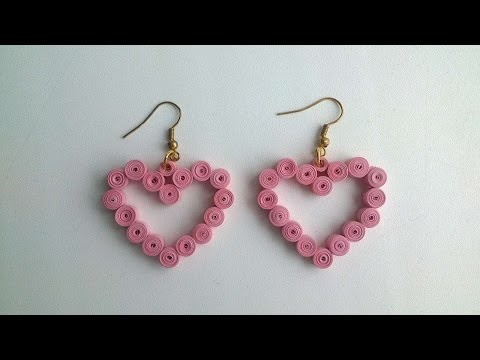 How To Make Heart Earrings With A Quilling Technique - DIY Crafts Tutorial - Guidecentral