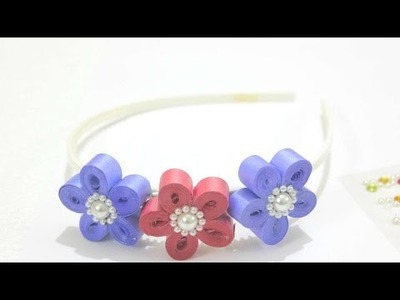 How To Make Quilled Floral Hair Band - DIY Crafts Tutorial - Guidecentral