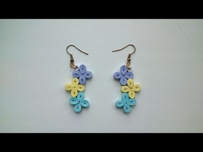 How To Make Simple Paper Flower Earrings - DIY Crafts Tutorial - Guidecentral