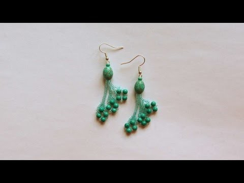 How To Make Turquoise Earrings With Beads - DIY Crafts Tutorial - Guidecentral