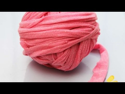How To Tape Yarn From Old T-shirt (method 2) - DIY Crafts Tutorial - Guidecentral