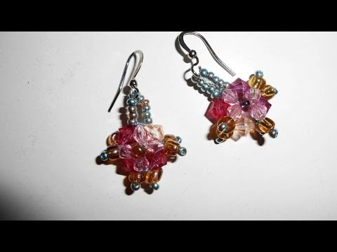 "How To Weave ""Small Flowers"" Beaded Earrings - DIY Crafts Tutorial - Guidecentral"
