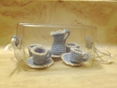 Ideas en Croche. Crochet Ideas : mini tea set I
