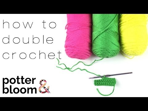 Learn to crochet a double crochet (dc) into your starting chain - BEGINNERS TUTORIAL