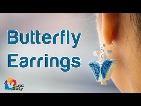 Paper Quilling Butterfly Earrings DiY