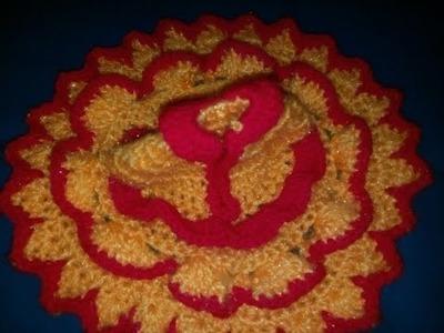 Part 2 - Crochet dress lotus.flower design - bal gopal winter dress