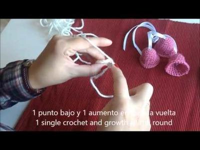 Tutorial Campanitas de ganchillo - Crochet jingle bells tutorial