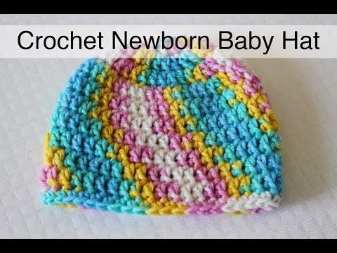 30 minute Crochet Newborn Baby Beanie | Sewrella