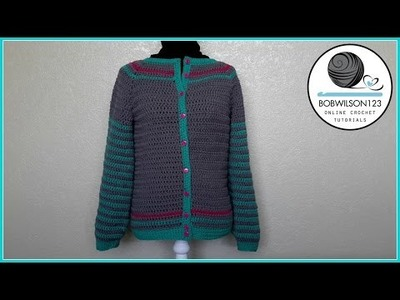 Adult Crochet Cardigan Part 3 of 3