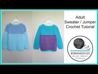 Adult Crochet Sweater Part 1 of 3