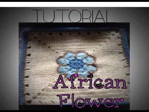 African Flower Crochet Tutorial