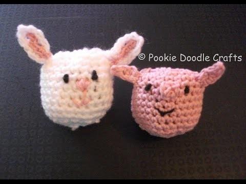 Amigumuri Animal Head Crochet Plastic Bag Holder